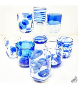 """GLASS """"MURANO"""" BLUE"""