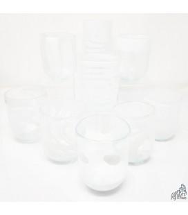 """GLASS """"MURANO"""" WHITE"""