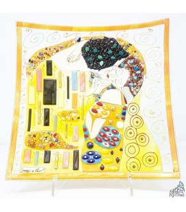 "PLATE ""KLIMT - THE KISS"" 11,81 X 11,81"