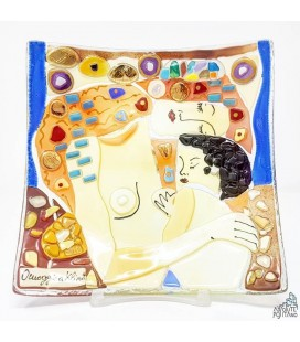 "PLATE ""KLIMT - THE THREE AGES OF WOMAN"" 5,90 X 5,90"