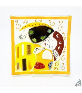 "PLATE ""KLIMT - THE KISS"" 3,93 X 3,93"