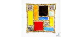 """PLATE """"COLOR/GOLD"""" 8,66 X 8,66"""