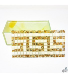 "JEWELLERY BOX ""MOSAIC BEIGE/GOLD"""